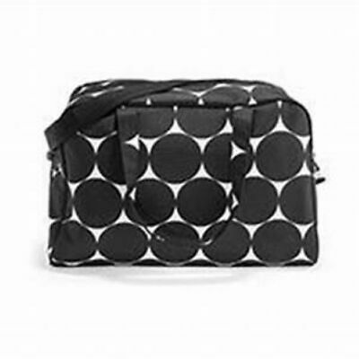 Thirty-One City Weekender in - Big Dot - Black and White, suitcase, bag