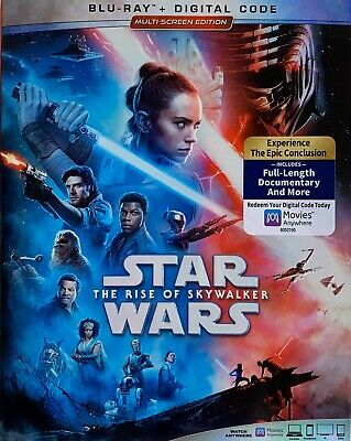 STAR WARS ~ THE RISE OF SKYWALKER ~ Blu-Ray + Digital *New *Factory Sealed
