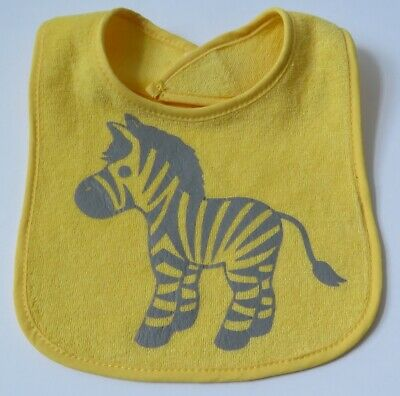 Handcrafted Unique Water Resistant Soft & Comfortable Baby Bib -Yellow Zebra NEW