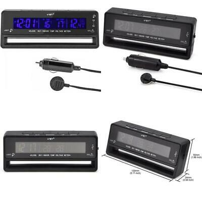 Ollgen Multifunctional 4 In 1 Car Digital Clock In/Out Thermometer Voltage Monit