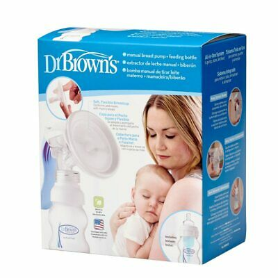 Dr Brown's Manual Breast Pump and Wide Neck Feeding Bottle