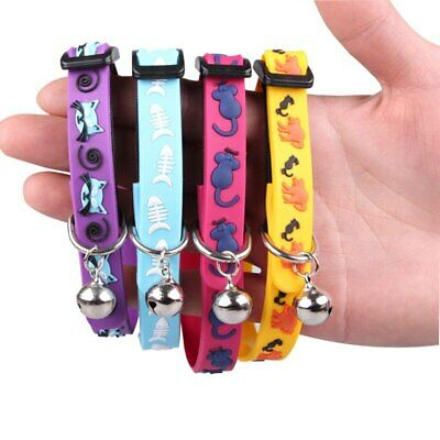 Silicone Pet Dog Cat Collar Adjustable Collar Bell Pet Leash Safety Cat Collars