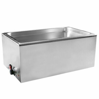3 Pan Wet Well Bain Marie Food Warmer Holder With 1/3 Gn Containers + Lids