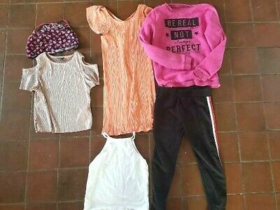 Bundle Job lot girls clothes aged 10 - 11 years  tops t shirts leggings dr
