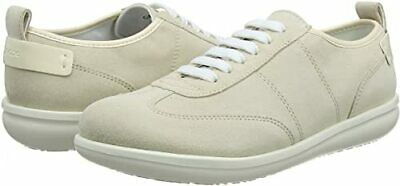 £95 Geox D Jearl D Beige  Real Leather Suede Trainers Sneakers Size 7.5 41 New