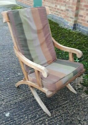 Rare Antique Arts & Crafts Solid Oak Sun Lounge Chair DELIVERY POSSIBLE