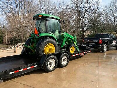 John Deere 4066R Deluxe Cab 4WD Tractor w/ Loader (Bucket & Pallet Forks attch)