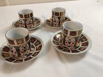 Set 4 Vtg Pearl China Porcelain Japanese Demitasse Tea Coffee Cups And Saucers