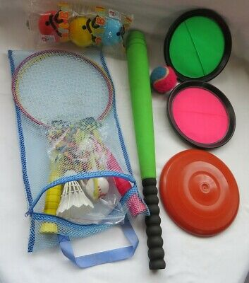 6 Piece Wooden Rounders Set /& Carry Bag Outdoor Toys /& Games HL348