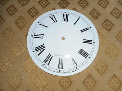 For American Clocks-Seth Thomas (Card) Paper Clock Dial-124mm MINUTE TRACK-WHITE