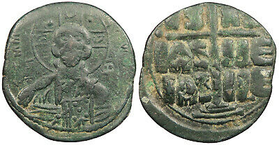 BYZANTINE Anonymous, Time of Michael IV AE Follis 1034-1041 A.D. VF