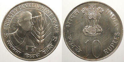 INDIA: 1975 (b) 10 Rupees Women's Year #WC79550