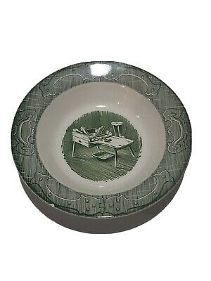 """Royal China Old Curiosity Shop Green Vegetable 9"""" Round Serving Bowl"""