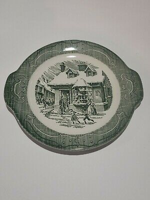 """Royal """"The Old Curiosity Shop"""" Handled 10 1/2 inch Cake Plate"""