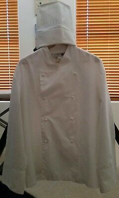 Chef Jacket + Chef Hat + 5 spare buttons