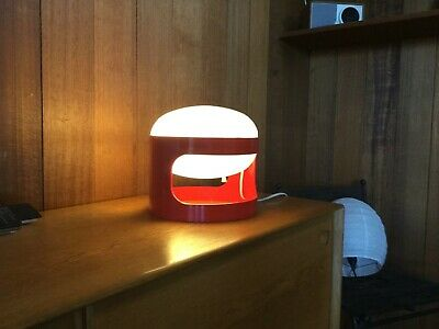 Original Joe Colombo KD 27 table lamp for Kartell 1970s Red