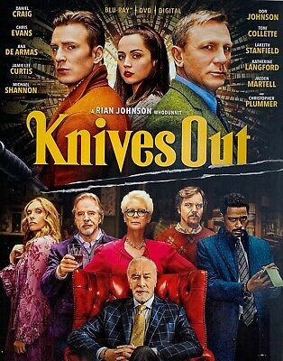KNIVES OUT ~ Blu-Ray + DVD + Digital Code *New *Factory Sealed