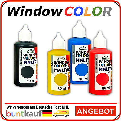 Ahrenshof ORIGINAL Window Color Farben 80ml in 28 Farben Fenstermalfarbe