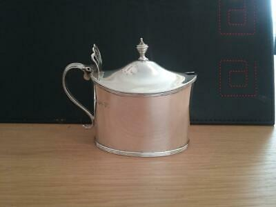 Hallmarked  Victorian  Sterling Silver Stylish Mustard / Condiment Pot Pierced