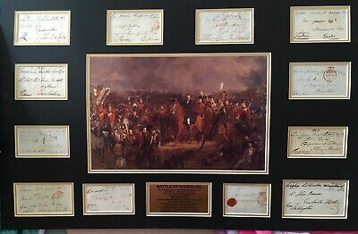 SIGNED COLOUR DISPLAY ARMY OFFICER BARON SALTOUN BATTLE OF WATERLOO