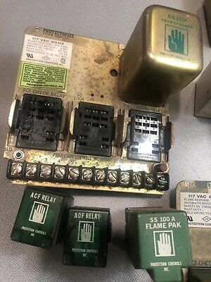 Protection Controls 7256 AH Protectofier 7256AH Flame Pak SS100A SS3CP Lot