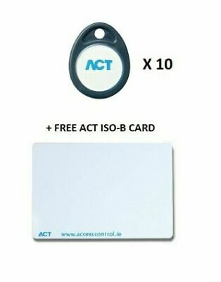 ACT Prox FOB-B Proximity Fobs (10 Pack) + 1 free ACT Prox ISO-B card