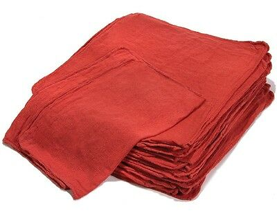 1000 New Industrial Shop Rags Cleaning Towels Red Large 12x14 Towel Premium