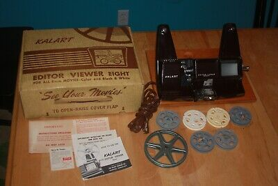 Kalart Bakelite 8mm Editor Viewer Splicer extras, box FREE SHIPPING