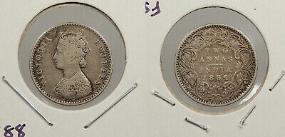 INDIA: 1884-(b) 2 Annas Victoria; better date. #WC80378