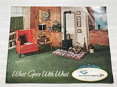 1963 Lee Carpet Catalog with Mid-Century Style House Rooms