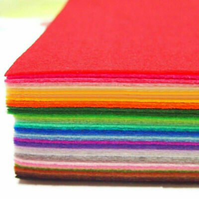 40 Sheets Colorful Felt Fabric Non Woven Thick Wool Blend Patchwork Craft Cloth
