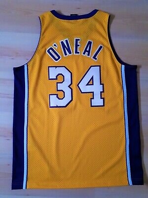 Jersey Nba Shaquille O'neal Nike Men Size L Yellow Large Made in El Salvador