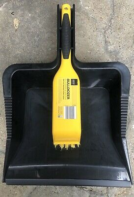 Bentley Bulldozer Heavy Duty Dustpan and Brush Black / Yellow