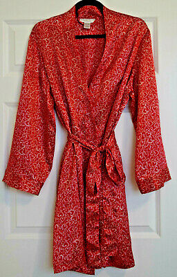 """""""Morgan Taylor Intimates""""  Red and White Robe Size Large"""