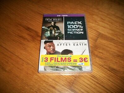 DVD, 2 films, total recall, after earth, film science fiction, neuf