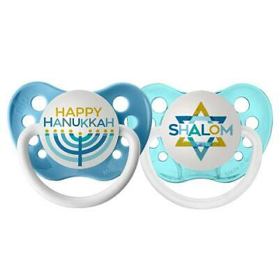 HAPPY CHANUKAH NIP DUMMY PACIFIER SOOTHER ORTHODONTIC TEAT