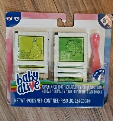 Officially Licensed NEW Veggies /& Fruit BABY ALIVE Powdered Doll Food Pack