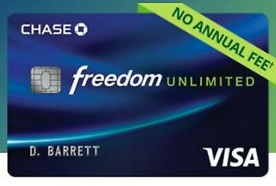 Chase Freedom Unlimited Credit Card Account Referral +$55 Bonus Rewards from Me