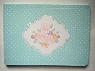 GLITTERY SPRING BLOSSOMS CAMEO JOURNAL ~ 80 Lined Sheets