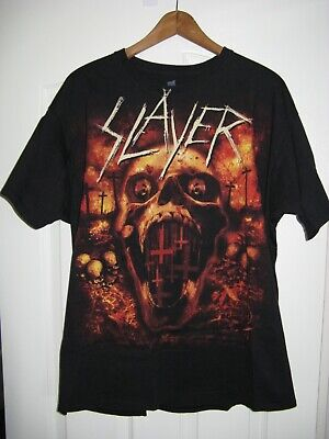 Slayer WORLD PAINTED BLOOD DAGGER SKULL T-Shirt NEW S-4XL Licensed /& Authentic