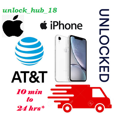AT&T APPLE FACTORY UNLOCK SERVICE 6 7 8 X XR XS (Active on another AT&T account)