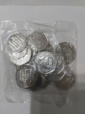 10 SEALED bags of Brand new brexit 50p coins UNCIRCULATED