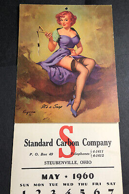"1960/'s Elvgren Pin-Up Girl /""Let/'s Eat Out/"" Burnt Cooking Poster 24x30"