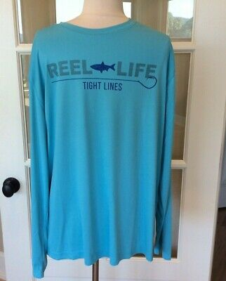 Performance Fishing Shirt NWT Large High Rise Gray Reel Life UV50