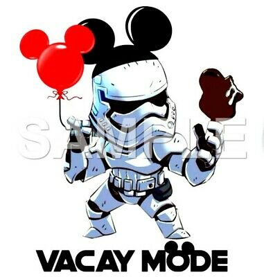 Disney Star Wars iron on or sublimation transfer