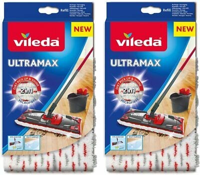 2 xvileda EasyWring /& Clean turbo sol essuie-glace Microfibre EasyWring remplacement référence NEUF