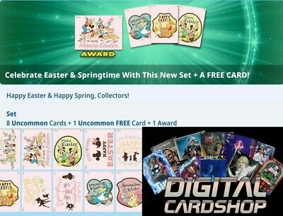 Topps Disney Collect Card Trader Easter Springtime Mixed Lot of 4 Digital Insert