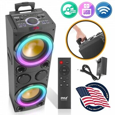 Pyle PPHD210 10'' Portable Bluetooth PA Karaoke Speaker System with LED Lights