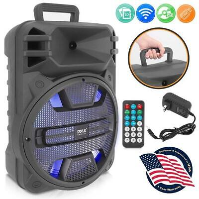 Pyle PPHP1243B 12'' Portable Bluetooth PA Speaker System with Latest DJ LED Ligh
