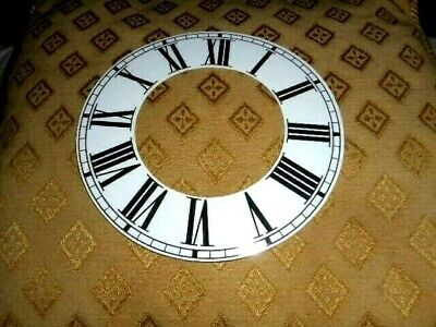 """Round Paper (Card) Clock Chapter Ring- 7"""" MINUTE TRACK - Roman-GLOSS WHITE-Parts"""